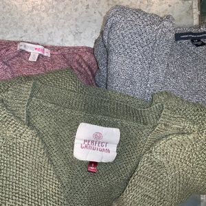 LOT OF 3 CARDIGANS FOR THE FALL SEASON